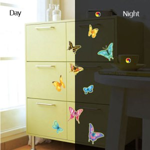 Glow Butterflies For Night And Colored Ones For Day