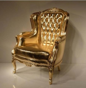 HeavyGold Upholstered Chair