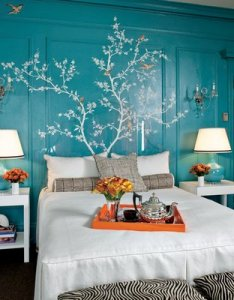 kendall+wilkinson laquered walls turquoise