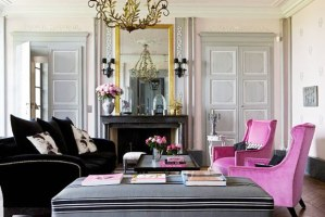 pink-grey-living-room-fuschia-arm-chairs-velvet-fireplace-french-france-gilles-trillard-cococozy