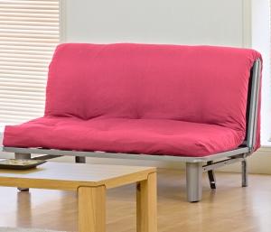 Seth 2 Seater Futon in Pink